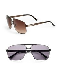 Gucci | Brown Wayfarer Sunglasses for Men | Lyst