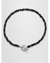 Gucci - Black Silver and Onyx Necklace - Lyst