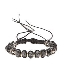 Stones Of Character | Black Spotted Onyx Bracelet for Men | Lyst