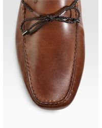 Tod's - Brown Brushed Leather Loafers for Men - Lyst