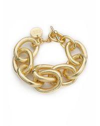 1AR By Unoaerre | Metallic Textured Link Bracelet | Lyst