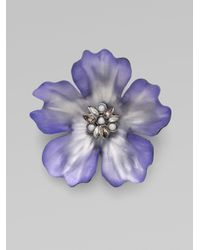 Alexis Bittar | Purple Anemone Pin | Lyst
