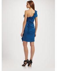 Catherine Malandrino   Blue Off-shoulder Dress   Lyst