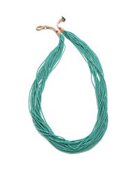 Chan Luu | Blue Multi Strand Beaded Necklace | Lyst