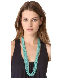 Chan Luu - Blue Multi Strand Beaded Necklace - Lyst