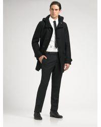 Dior Homme | Black Wool Duffel Coat for Men | Lyst