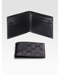 Gucci | Black Small Bi-fold Wallet for Men | Lyst