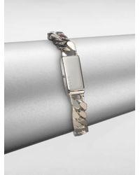 Gucci - Metallic Sterling Silver Stripes Bracelet for Men - Lyst