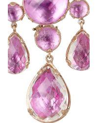 Larkspur & Hawk - Purple Haley 22karat Rose Golddipped Topaz Chandelier Earrings - Lyst