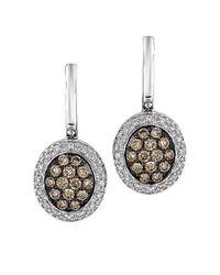 Le Vian - Brown Diamond Drop Earrings in 14 Kt White Gold 61ct Tw - Lyst