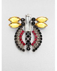 Marni - Yellow Faceted Abstract Insect Brooch - Lyst
