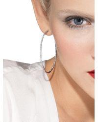 Roberto Coin | White Gold Diamond Hoop Earrings | Lyst