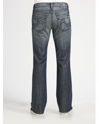 Rock & republic Floyd Relaxed Bootcut Jeans in Blue for Men | Lyst