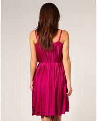 Seafolly - Pink Goddess Pleated Dress - Lyst