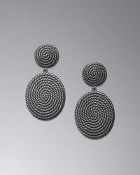 David Yurman | Metallic Cable Coil Doorknocker Earrings | Lyst
