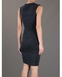 Helmut - Black Asymmetric Draped Dress - Lyst
