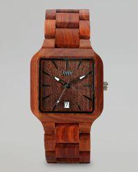 WeWood - Metis Red Wing Celtis Wood Watch Brown - Lyst