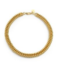 1AR By Unoaerre - Metallic Fishtail Grommet Link Necklace - Lyst
