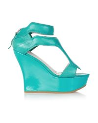 Camilla Skovgaard - Blue 120mm Leather Sandal Wedges - Lyst