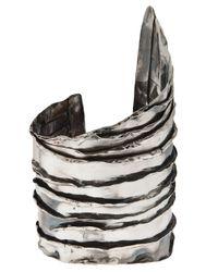 Emanuele Bicocchi - Metallic Ridges Cuff - Lyst