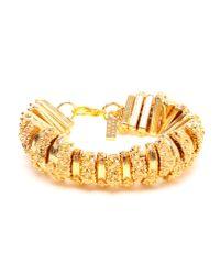 Estelle Dévé | Metallic Textured Gold-plated Pewter Bracelet | Lyst