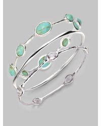 Ippolita | Blue Turquoise & Sterling Silver Bracelet | Lyst