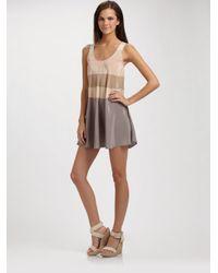 Marc By Marc Jacobs - Gray Simone Stripe Mini Dress - Lyst