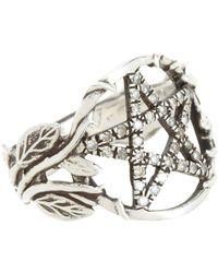 Pamela Love | White Champagne Diamond Pentagram Ring | Lyst