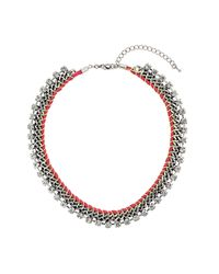TOPSHOP - Metallic Rhinestone and Chain Collar - Lyst