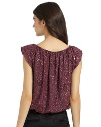 Alice + Olivia | Purple Sicily Sequined Top | Lyst