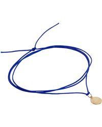 Bianca Pratt - Blue Gold Coin Silk Wrap - Lyst