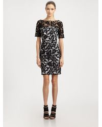 Lyst - MILLY Lace Boatneck Dress in White 5da0c49bd