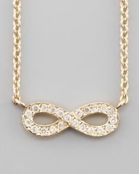 Sydney Evan | Metallic 14k Gold Diamond Infinity Pendant Necklace | Lyst
