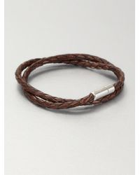 Tateossian | Brown Silver Pop Scoubidou Bracelet | Lyst