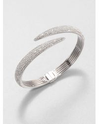 Adriana Orsini | Metallic Pavé Crystal Tail Bangle Bracelet | Lyst