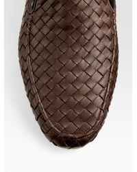 Bottega Veneta - Brown Leather Slippers for Men - Lyst