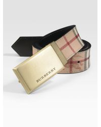 Burberry - Brown Barnesfield Classic Haymarket Check Belt for Men - Lyst