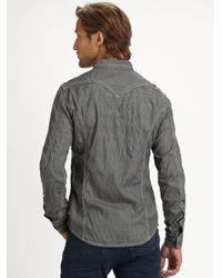 DIESEL - Gray Wearny Denim Shirt for Men - Lyst