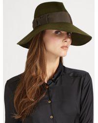 Eric Javits | Green Grosgrain Bow Felt Hat | Lyst