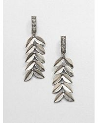 Giles & Brother - Metallic Victory Drop Earrings - Lyst
