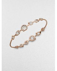 Ippolita | Metallic Rose Double Tiara Clear Quartz Bangle Bracelet | Lyst
