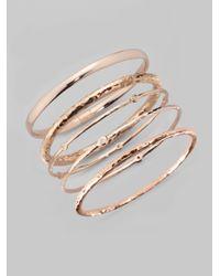Ippolita | Pink Rose Carino #2 Hammered Bangle Bracelet | Lyst