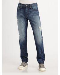 Joe's Jeans - Blue Easton Brixton Straight-leg Jeans for Men - Lyst