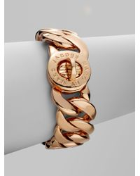 Marc By Marc Jacobs | Metallic Katie Turnlock Bracelet/rose Goldtone | Lyst
