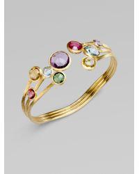 Marco Bicego | Metallic 18k Gold Semiprecious Multistone Cuff Bracelet | Lyst