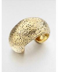 St. John | Metallic Hammered Cuff Bracelet | Lyst
