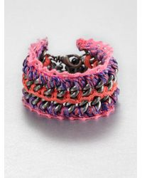 Venessa Arizaga | Orange Chiquita Chain Link Cuff Bracelet | Lyst