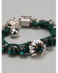 Shourouk - Metallic Gem Embellished Braided Bracelet - Lyst