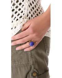 Madewell | Metallic Carved Cobalt Ring | Lyst
