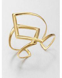 Alexis Bittar | Metallic Overlapping Cuff Bracelet | Lyst
